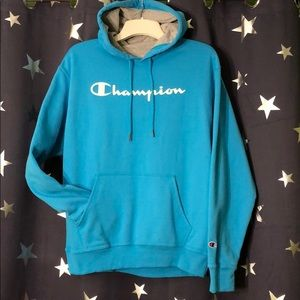 Champion bright blue hoodie